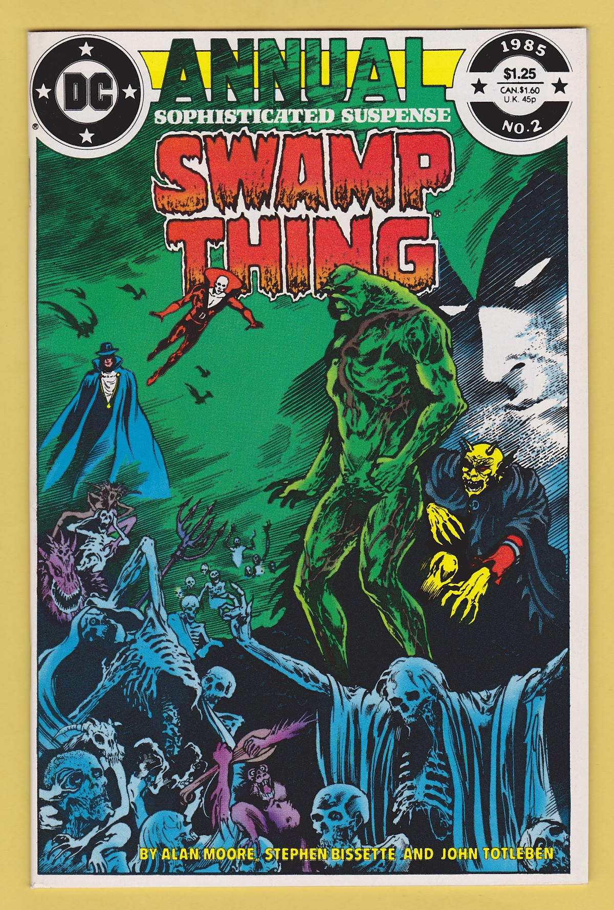 Swamp Thing Annual #2 Near Mint (9 4) **1st True App  of Justice League  Dark**