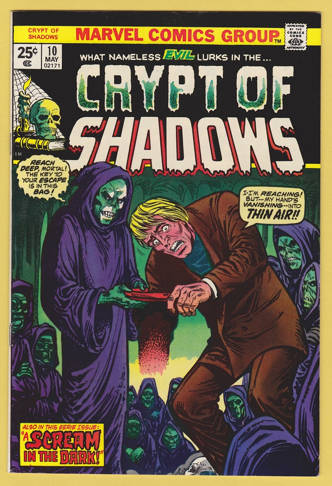 Crypt of Shadows #10 NM+ (9 6) **High Grade Bronze Age Horror**